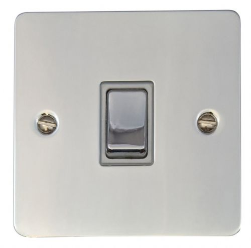 G&H FC205 Flat Plate Polished Chrome 1 Gang Intermediate Rocker Light Switch